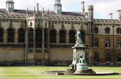 Fountain in King's College, Cambridge. royalty free stock photo