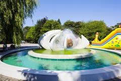 The Fountain in Kolobrzeg Stock Photography