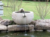 Vienna Korean Bell Garden fountain 2016 Royalty Free Stock Photos