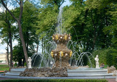 Fountain Koronny in Summer Garden, Saint Petersburg, Russia Royalty Free Stock Image