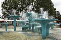 Fountain on the Kosciuszko Square in Gdynia. Poland Royalty Free Stock Images