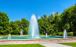 Fountain at Kyrgyz National Opera and Ballet Theater in Bishkek Stock Images