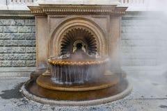 Fountain La Bollente in Acqui Terme Stock Photos