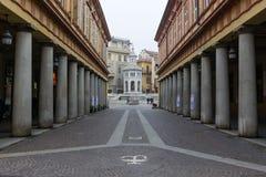 Fountain La Bollente in Acqui Terme Stock Images