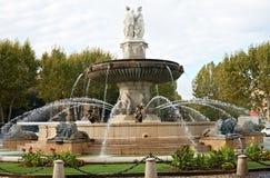 Fountain La Rotonde in Aix en Provence. La Rotonde, large fountain in Aix en Provence, France Royalty Free Stock Photo