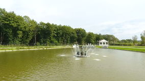 Fountain on the Lake stock footage