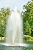 Fountain on the lake Stock Photos