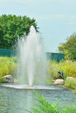 Fountain on the lake Stock Photography