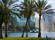 The Fountain on Lake Eola Royalty Free Stock Photos