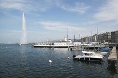 Fountain in Lake Geneva Royalty Free Stock Image