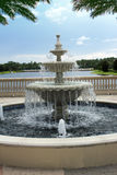 Fountain and Lake Royalty Free Stock Photo