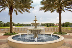 Fountain and Lake Stock Photography