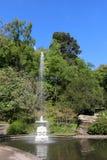 Fountain in lake, Williamson Park, Lancaster Stock Photo