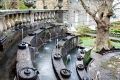 Fountain Of The Lamps Detail Villa Lante Italy Stock Photography