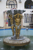 Fountain in Lazarevskoye town, Russia Royalty Free Stock Images