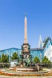 Fountain in Leipzig on Augustus square Stock Photos