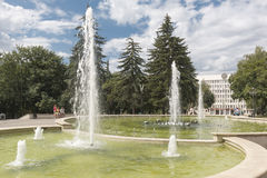 Fountain on Lenin Square in Pyatigorsk, Russia Royalty Free Stock Photos