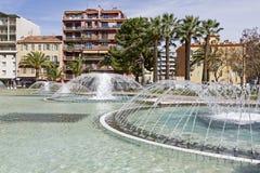 Fountain at L'Esplanade Francis Giordan Stock Photos