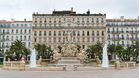 Fountain of Liberty square in Toulon Royalty Free Stock Photo