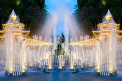 Fountain with light Royalty Free Stock Photo