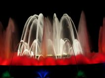 Fountain and light display Royalty Free Stock Photography