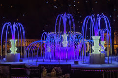 Fountain of light-emitting diodes Stock Image