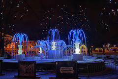 Fountain of light-emitting diodes Royalty Free Stock Images