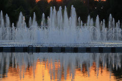 Fountain. In the light of the setting sun Stock Image