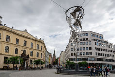 Fountain of Light at St. Olavs Plass in Oslo, Norway Stock Photography