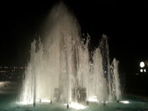 Fountain. Lighted fountain at night Royalty Free Stock Images
