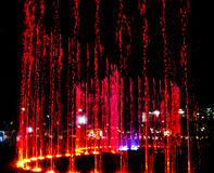 Fountain of lights Stock Images