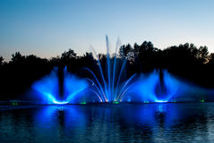 Fountain lights Royalty Free Stock Photos