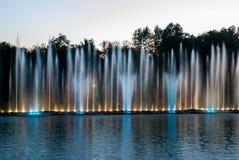 Fountain lights stock image