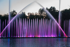 Fountain lights Royalty Free Stock Images