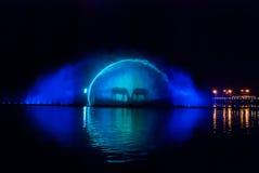 Fountain lights Stock Photos