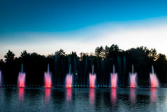 Fountain lights Royalty Free Stock Photography