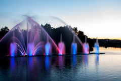 Fountain lights Royalty Free Stock Photo