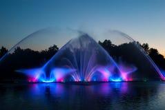 Fountain lights Stock Photo