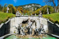 Fountain in the Linderhof Stock Photo