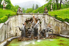 Fountain in the Linderhof Palace. Royalty Free Stock Photo