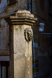 The fountain with lion. In Italy Royalty Free Stock Photo