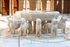 Fountain of the Lions in Alhambra de Granada, Spain Stock Image