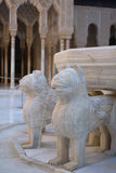 Fountain of Lions in Alhambra, Granada Stock Photo