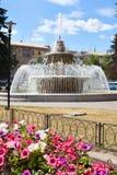 Fountain in Lipetsk city, Russia royalty free stock photos