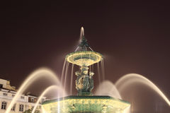 Fountain in Lisbon Portugal Stock Photos