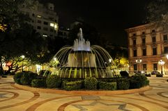 Fountain of Lleida, Spain Royalty Free Stock Photography