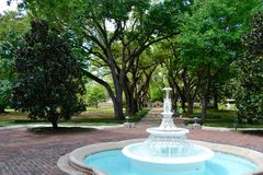Fountain at Long Vue House and Gardens. A fountain in the park in Long Vue House and Gardens, Lakewood, New Orleans royalty free stock photos