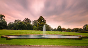 Fountain at Longleat house and safari park Royalty Free Stock Images