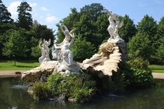Sculptured fountian with Venus & angels Stock Image