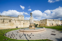 Fountain of the Lovers or Fontana degli Innamorati in Lecce, Pug. Fountain of the Lovers or Fontana degli Innamorati at the Castello in Lecce, Puglia, Italy stock images